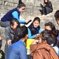 Young Tibetan female students