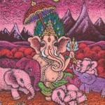 Lord Ganesha and The Pink Elephants / ガネーシャ神とピンクのゾウさんたち