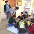 Young Tibetan male students