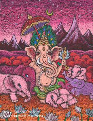 Lord Ganesha and The Pink Elephants