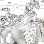 Maya Leaving for Homeland / 故郷へ旅立つ王妃マヤ